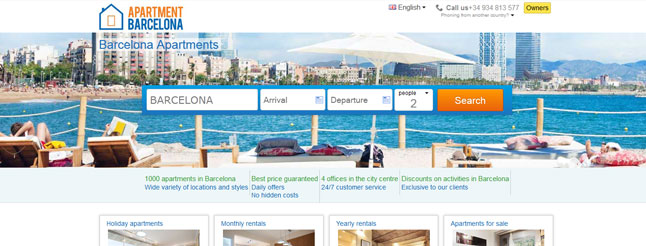 Apartment Barcelona gives its website a new look to provide optimal user experience