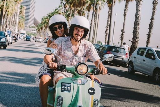 Rent a Vespa in Barcelona with YEGO